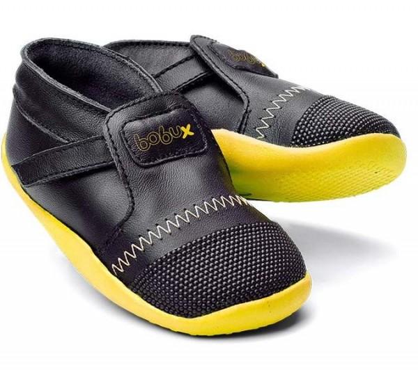 Bobux Xplorer Lauflernschuhe schwarz gelb
