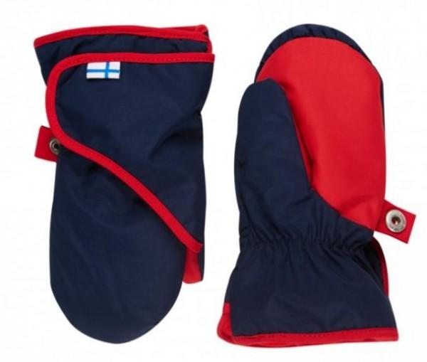 Finkid Lapanen navy/red Thermo Handschuhe Fäustlinge wasserfest