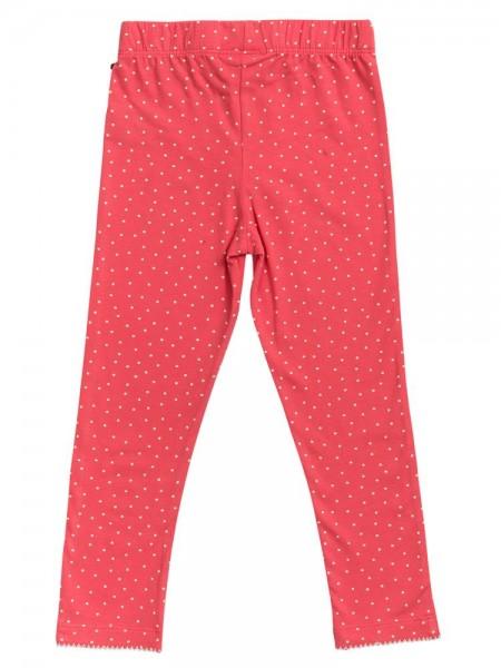 People wear Organic Pünktchen Leggings rot Dots