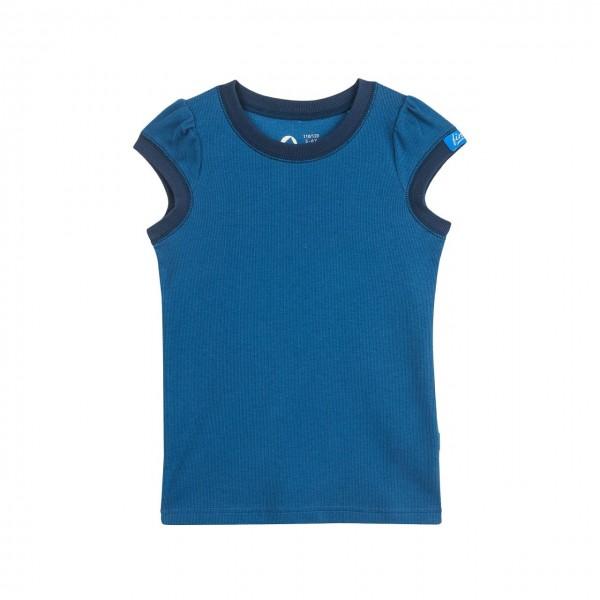 Finkid MINTTULI denim/navy Mädchen Kurzarmshirt UV-Schutz 50+