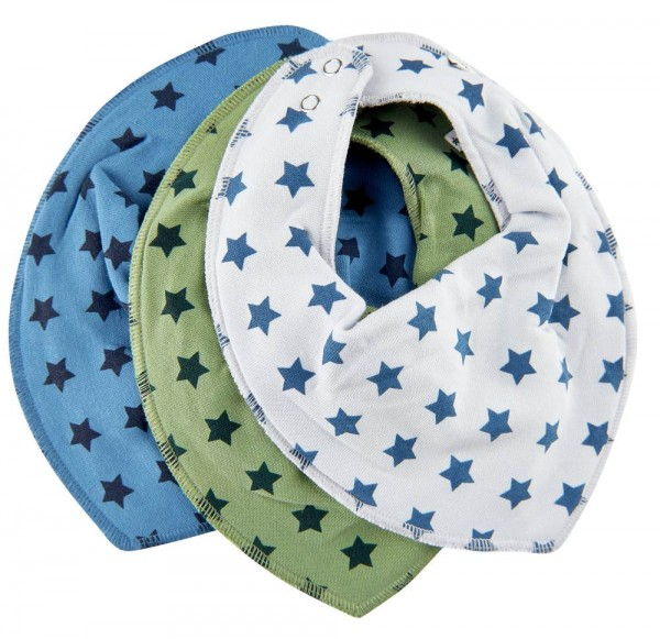 Pippi Baby Halstücher 3er Pack Blue Stars
