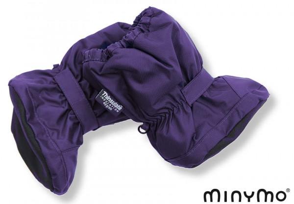 Minymo Nylon Thermo Booties - gefütterte Stiefelchen Vic60 aura violett