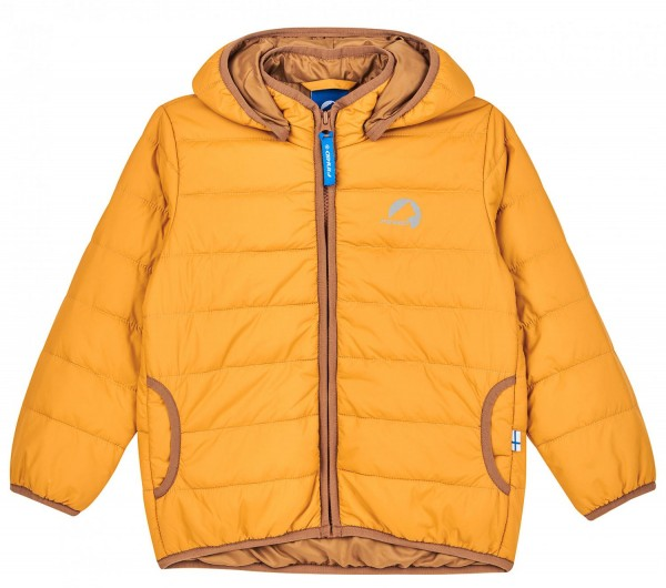 Finkid VANUKAS golden yellow/cinnamon Thermo Zip-in Steppjacke vegan
