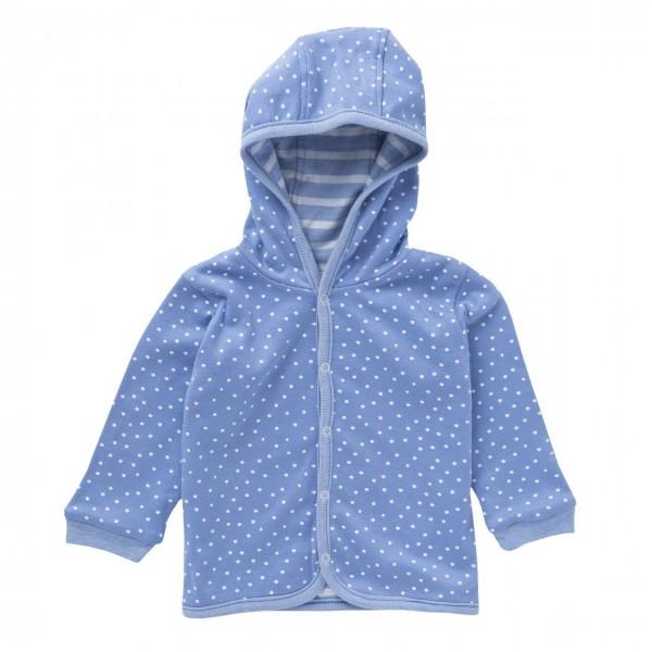 Baby Wendejacke himmelblau Dots mit Kapuze Bio-Baumwolle