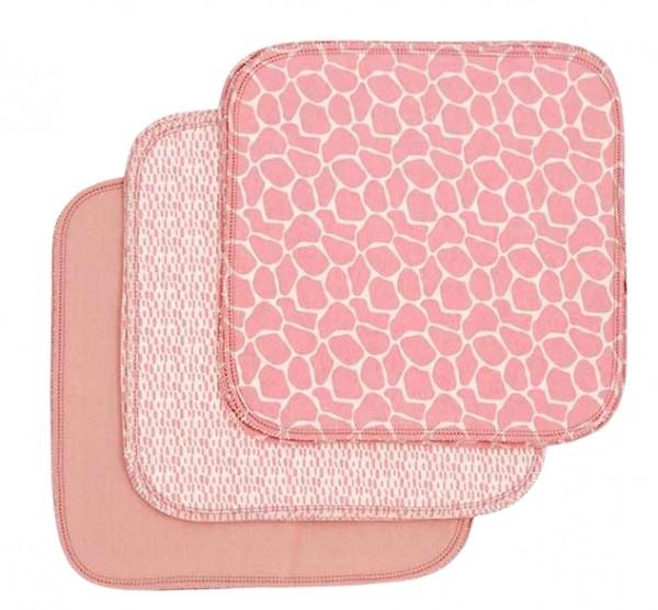 ImseVimse Pflegetücher rosa Blossom 10er Pack wiederverwendbare Feuchttücher