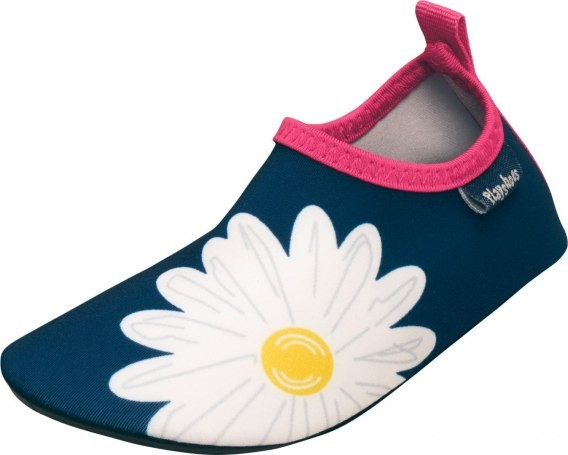 Mädchen Strandschuhe Margerite blau Barfuß-Schuhe