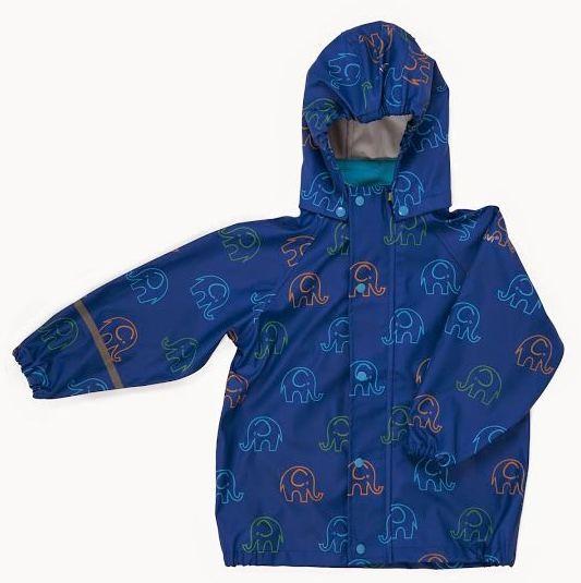 CeLaVi Kinder Regenjacke ocean blue Elephants