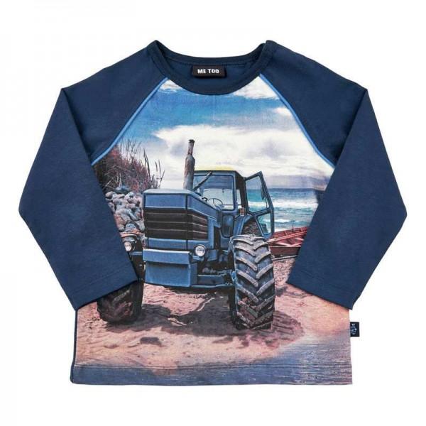 Metoo Traktor Langarmshirt blau