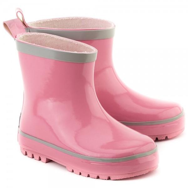 Gummistiefel Booties rosa mit kurzem Schaft
