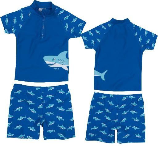 Kinder Sonnenschutz-Zweiteiler Haifisch mit UV-Schutz