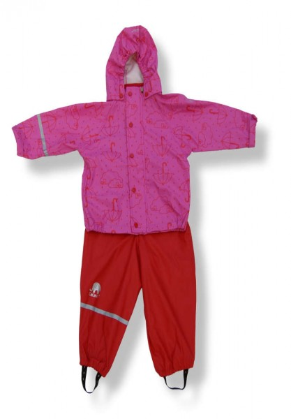 CeLaVi Mädchen Regenanzug rot/pink Zweiteiler Umbrellas