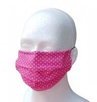 Mund-Nasen Behelfsmaske pink Pünktchen