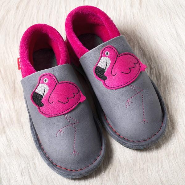 Pololo Kindergarten Hausschuhe Flamingo Kiga Schuhe