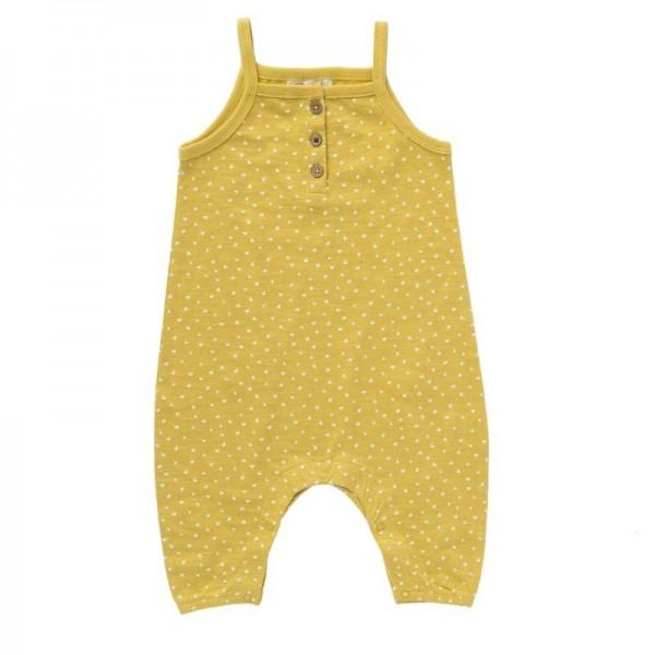 Baby Trägerhose gelb Dreiecke Bio-Baumwolle