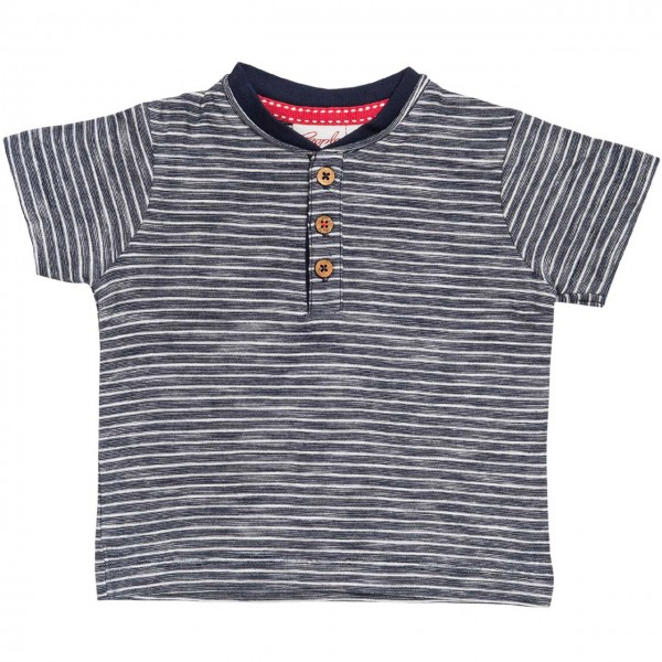 People Wear Organic Ringel T-Shirt blau/ weiß Kurzarm