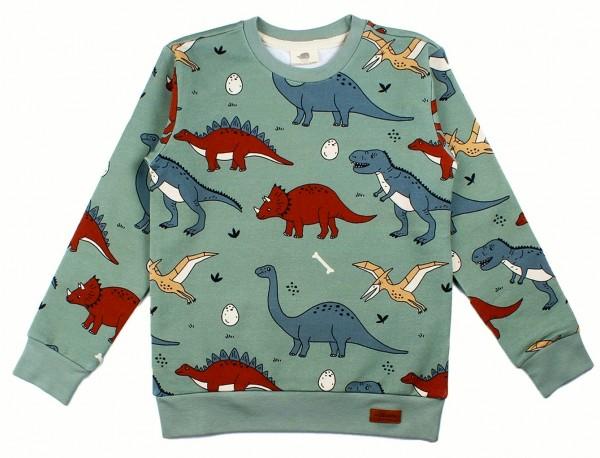 Walkiddy Dino Sweatshirt funny Dinosaurus oceangreen