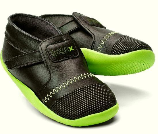 Bobux Xplorer Lauflernschuhe Black/Lime