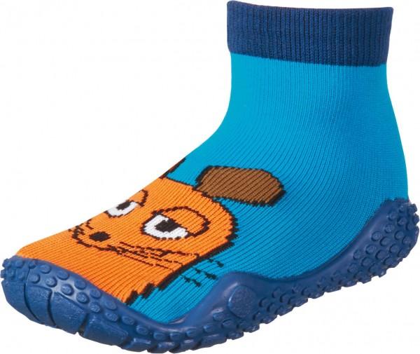 Aqua-Socken Barfuß Sockenschuhe Maus türkis