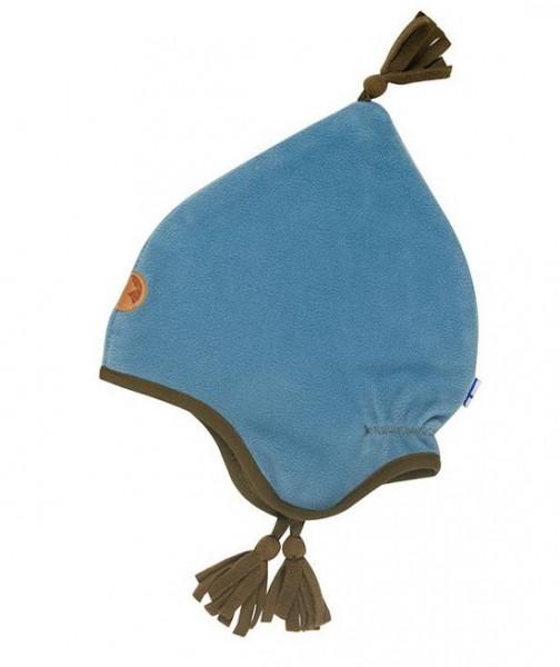 Finkid Pipo smoke blue/capers Winter Fleecemütze mit Baumwollfutter