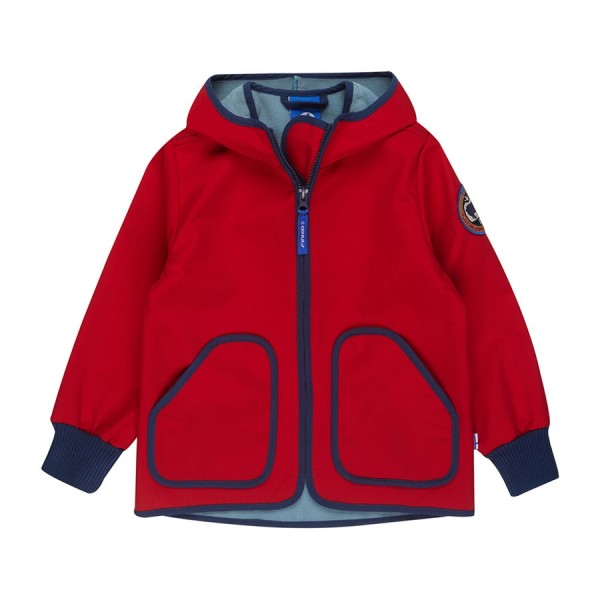 Finkid TOVE SHELL Softshelljacke red/denim
