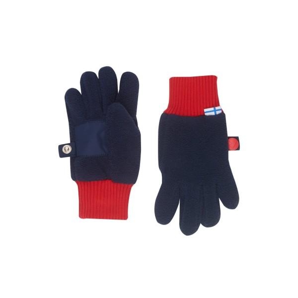 Finkid SORMIKAS navy red Fleece Fingerhandschuhe