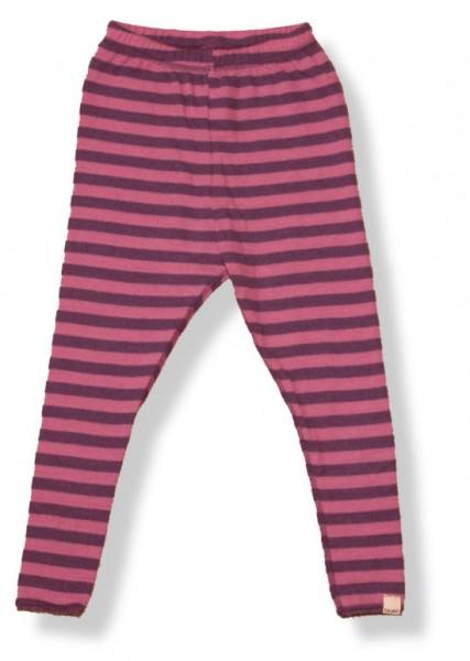Celavi Mädchen Leggings lila rosa geringelt