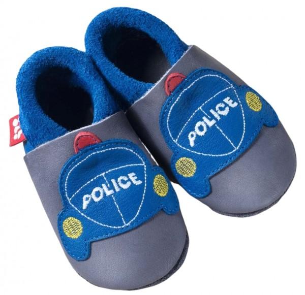 Pololo Polizei Hausschuhe mit Polizeiauto