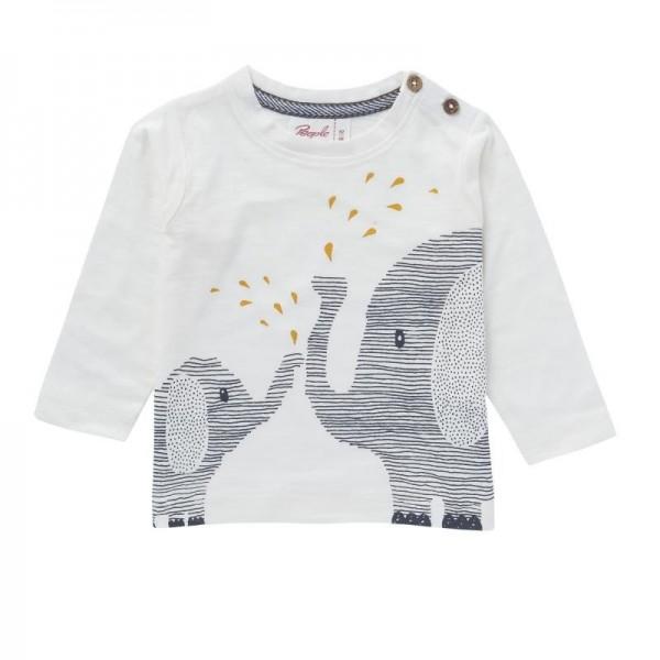 Langarmshirt weiß Elefant Bio Baumwolle (GOTS)
