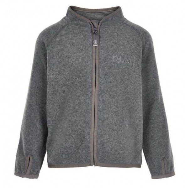 meet 76888 726db Celavi Kinder Fleecejacke in grau