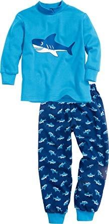Jungen Schlafanzug Haifisch mittelblau