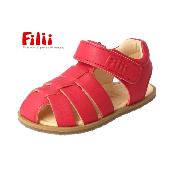 Filii SCORPION Sandalen rot Bioleder Barfußsandalen