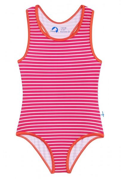Finkid Niemi Badeanzug raspberry/offwhite mit UV Schutz