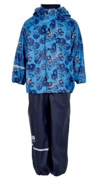 CeLaVi Regenanzug Autos blau Set Regenhose + Regenjacke