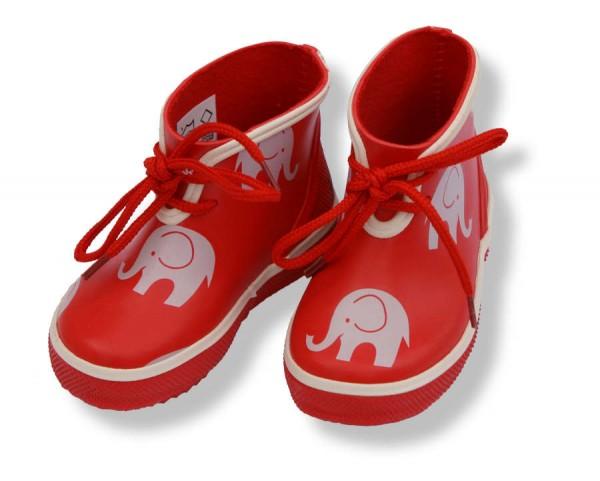 CeLaVi Mini Gummistiefel rot mit Elefanten Kurzschaft Booties