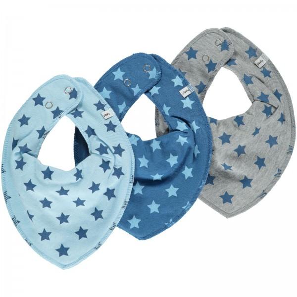 Pippi Halstücher 3er Set Sterne blau/grau