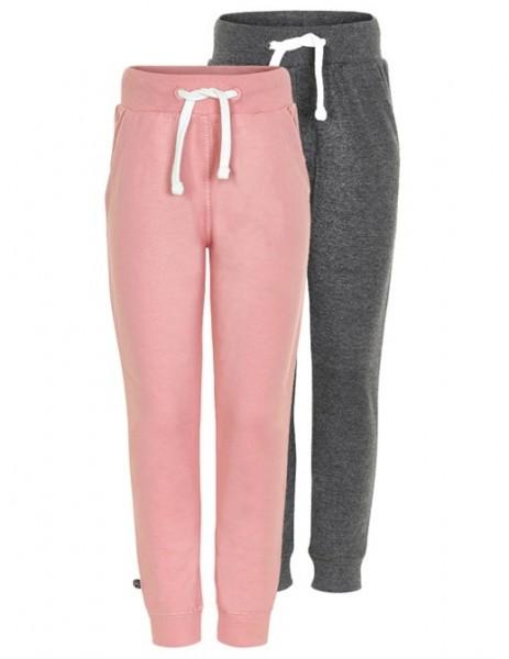 Mädchen Sweatpants rosa/anthrazit im 2er Pack Jogginghose