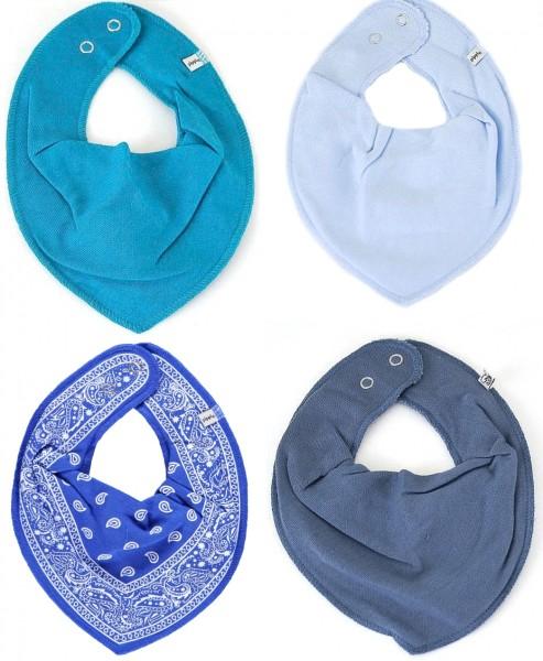 Pippi Baby Halstücher Paisley Blue 4er Set