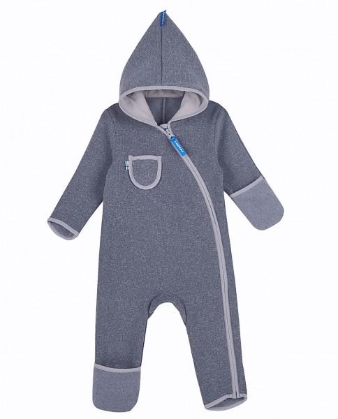 Finkid PUKU SPORT storm grau Baby Strickfleece Overall