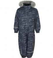 Minymo Jungen Schneeanzug Ombre Blue Pattern Herringbone