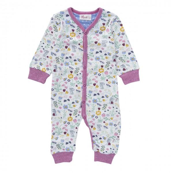 Baby Mädchen Overall Blumenwiese Schlafanzug Bio-Baumwolle