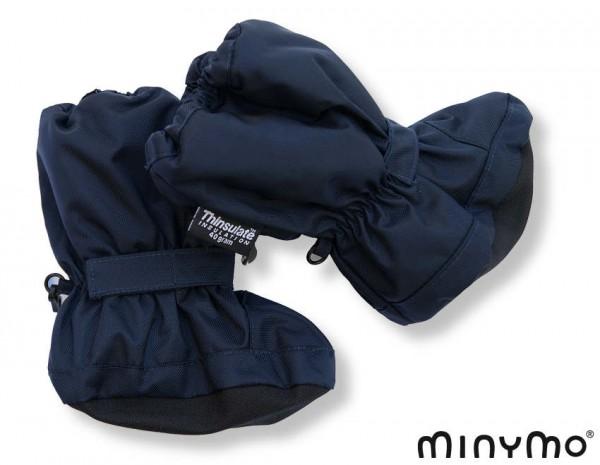 Minymo Nylon Thermo Booties - gefütterte Stiefelchen Hit55 eclipse blau