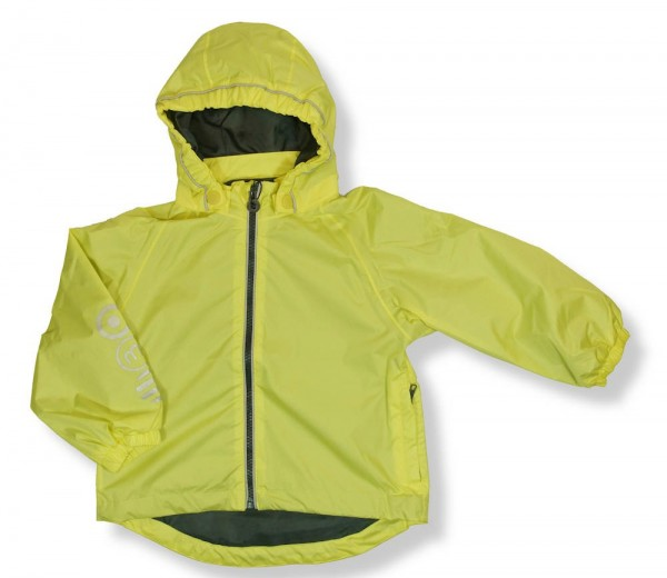 Minymo Kinder Regenjacke zartgelb yellow Sheen