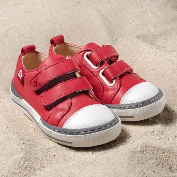 Pololo Sneaker Kinderschuhe SOL berry rot aus Ökoleder