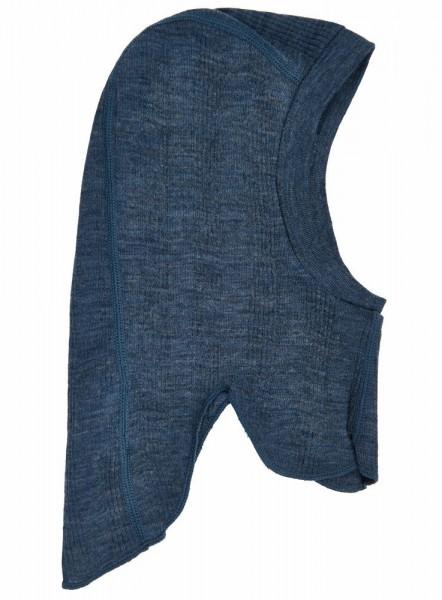Celavi Baby Schlupfmütze Merinowolle jeansblau