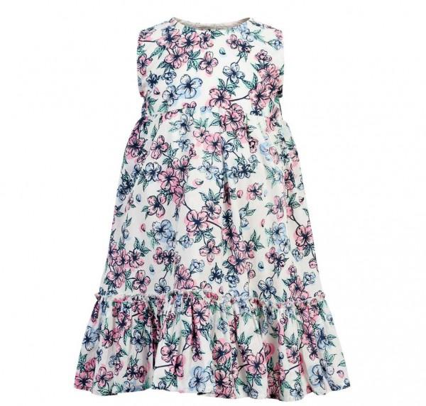 Creamie Mädchen Sommerkleid weiß mit Blumen
