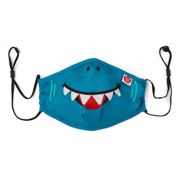 Affenzahn Kinder Mund Nasen Maske Hai aus Bio Baumwolle