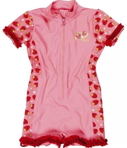 Mädchen UV-Schutz Overall Erdbeeren Sonnenschutz Anzug