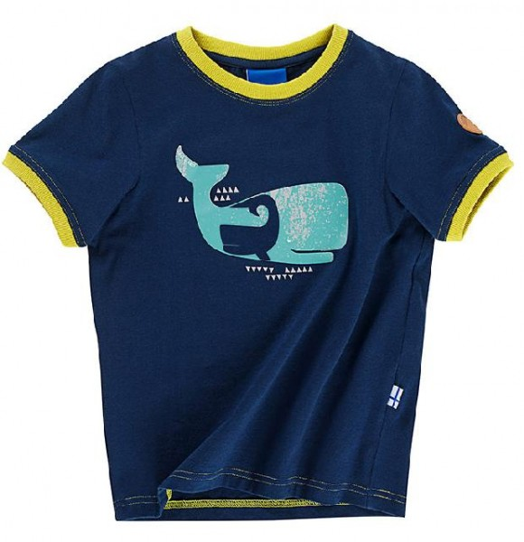 Finkid TRAMPOLIINI Baby T-Shirt Kurzarm navy/lime