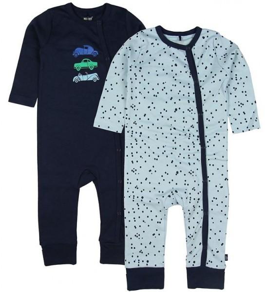 MeToo Baby Schlafanzüge navy/hellblau 2er Pack Organic Baumwolle GOTS