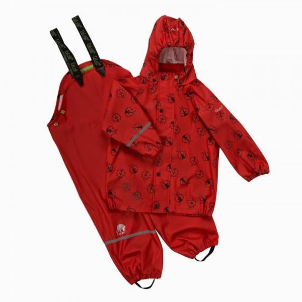 CeLaVi Mädchen Regenanzug Marienkäfer rot Set Regenhose + Regenjacke